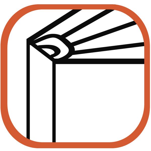 simple line icon of assembled binder, print binder
