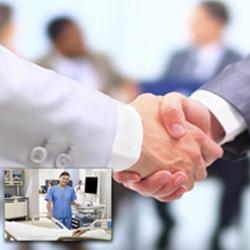 Business handshake, corporate printing